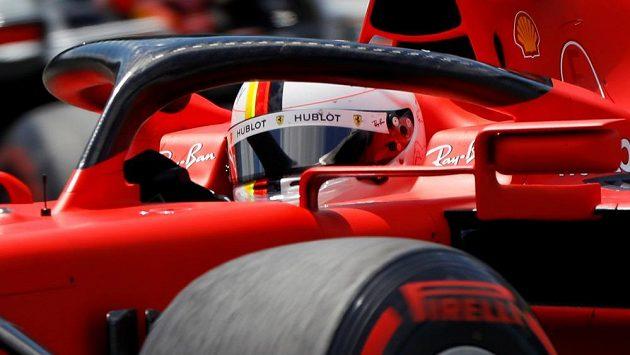 Sebastian Vettel během tréninku na Velkou cenu Rakouska.