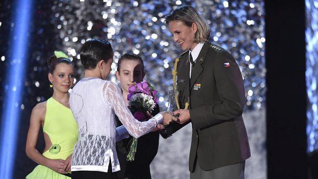 Barbora Špotáková během vyhlášení Sportovec roku 2014.
