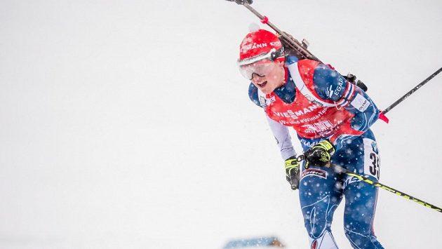 Česká biatlonistka Veronika Vítková na trati sprintu v rakouském Hochfilzenu. Co předvede ve čtvrtek v Annecy?
