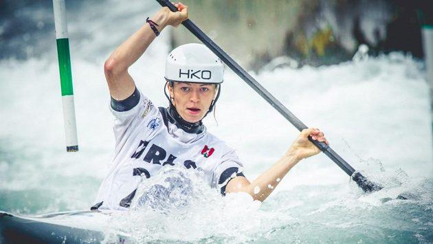 Amálie Hilgertová při semifinále mistrovství Evropy v Tacenu.