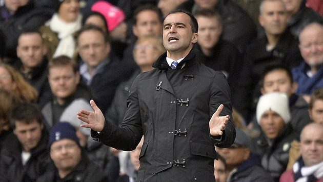 Trenér Evertonu Roberto Martínez