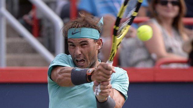 Španěl Rafael Nadal ve finále proti Daniilu Medveděvovi.