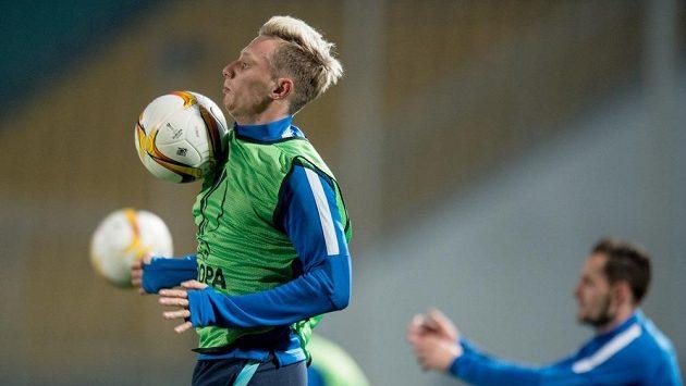 Sparťanský záložník Ladislav Krejčí na tréninku před odvetou v Krasnodaru.