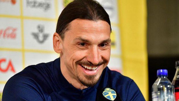 Zlatan Ibrahimovic na tiskovce švédského národního týmu.