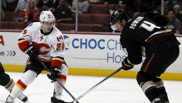 Jiří Hudler (vlevo) je zatím v NHL nejproduktivnějším Čechem.