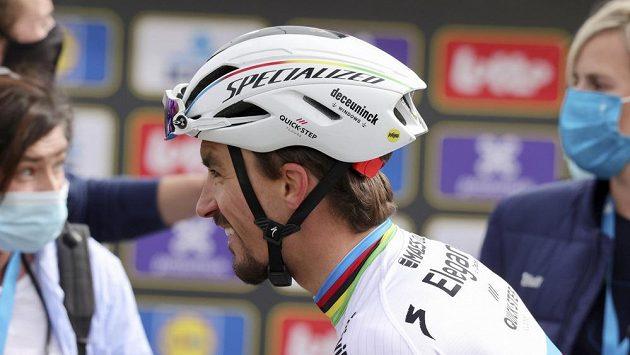 Francouz Julian Alaphilippe po nedávném závodě Kolem Flander.