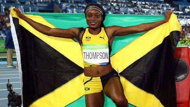 Elaine Thompsonová z Jamajky po trikumfu na 200 m.