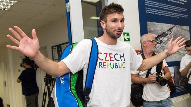 Badmintonista Petr Koukal na ilustračním snímku.