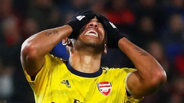 Fotbalista Arsenalu Pierre-Emerick Aubameyang během utkání v Bournemouthu. Ilustrační foto