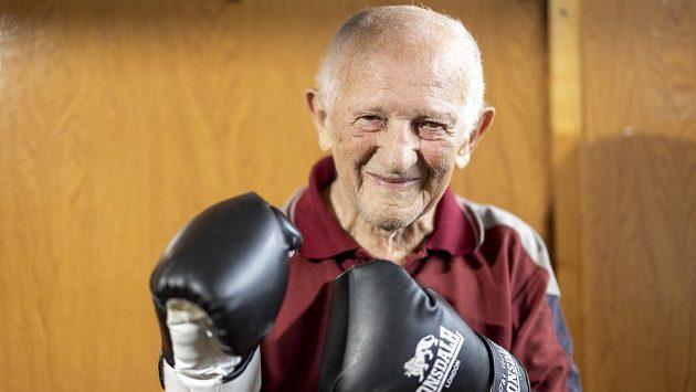 Bývalý slovenský boxer Ján Zachara na snímku pořízeném 11. června 2021 v boxerském klubu v Dubnici nad Váhom.