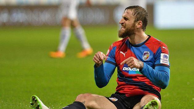 Jan Holenda se raduje z gólu ve čtvrtfinále poháru proti Olomouci.
