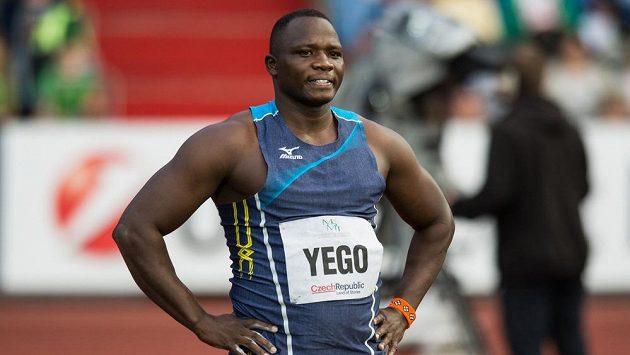 Oštěpař Julius Yego během atletického mítinku Zlatá tretra 2016.