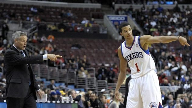 Basketbalista Philadelphie Michael Carter-Williams.