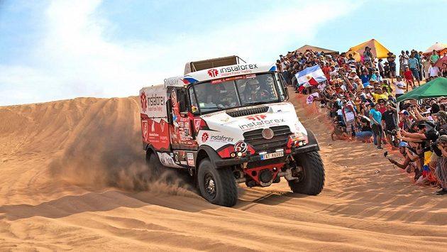Aleš Loprais s kamiónem Tatra zvítězil v první etapě Rallye Dakar 2018.