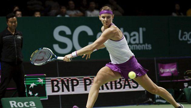 Tenistka Lucie Šafářová na Turnaji mistryň v Singapuru.