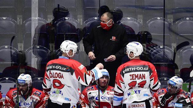 Hlavní trenér hokejových Pardubic Richard Král.
