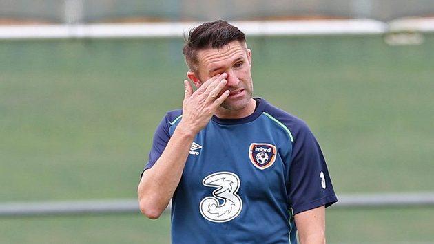 Robbie Keane na tréninku irského národního týmu.