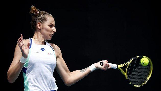 Kristýna Plíšková během zápasu 2. kola Autralian Open proti Britce Heather Watsonové.