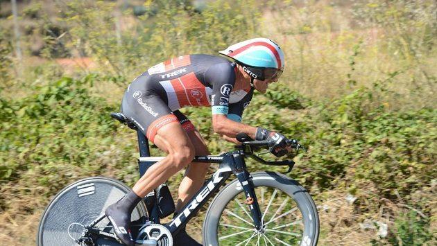 Švýcarský cyklista Fabian Cancellara při časovce.