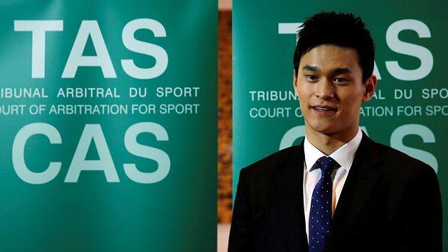 Čínský plavec Sun Jang při výpovědi před CAS loni v listopadu.