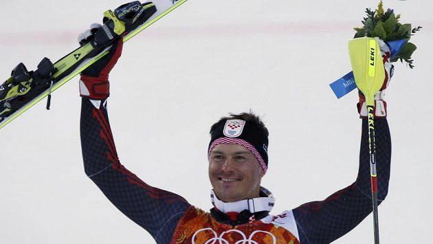 Chorvat Ivica Kostelič byl po druhém místě v superkombinaci spokojen.