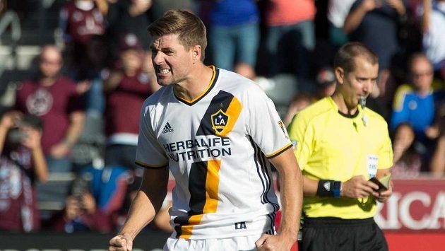 Někdejší kapitán anglické fotbalové reprezentace Steven Gerrard se loučí s LA Galaxy.
