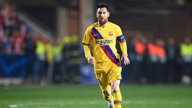Lionel Messi z Barcelony. Ilustrační foto.