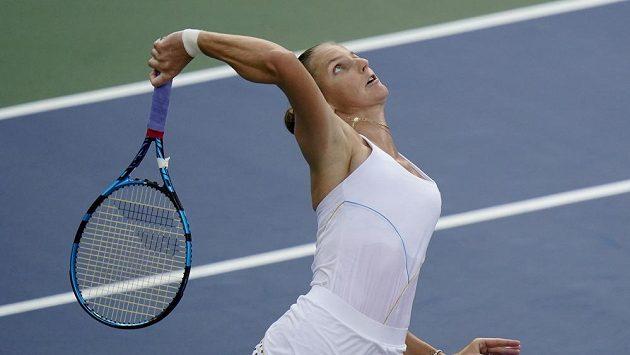 Česká tenistka Karolína Plíšková v zápase 3. kola US Open.
