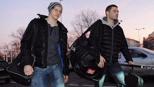 Robert Kousal (vpravo) bude hrát Kontinentální ligu. Vedle něj Jan Buchtele.