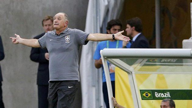 Kouč Brazílie Luiz Felipe Scolari na turnaji o Pohár FIFA.