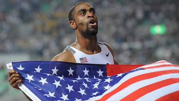 Americký sprinter Tyson Gay