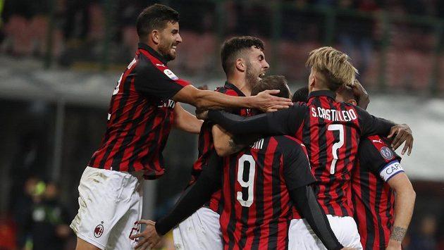 Radost hráčů AC Milán, ilustrační snímek.