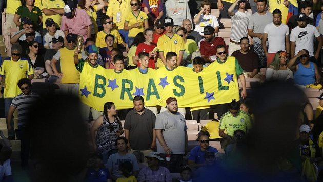 Brazilští fanoušci na letošním ročníku Copa América.