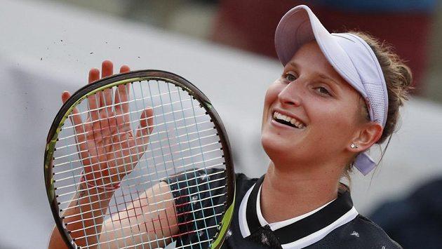 Markéta Vondroušová po postupu do semifinále v Paříži.