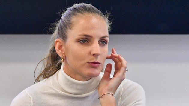 Karolína Plíšková na tiskové konferenci před začátkem nové sezony.
