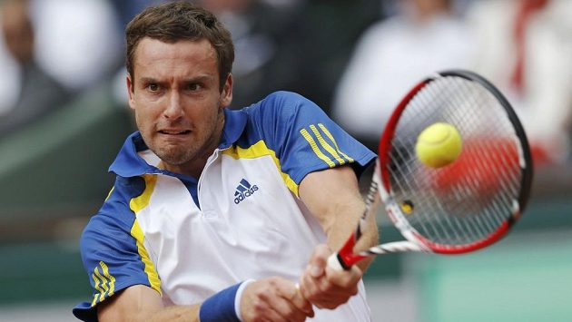 Lotyšský tenista Ernests Gulbis na French Open.