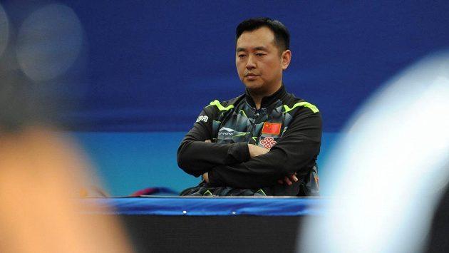 Trenér čínského ženského týmu Kchung Ling-chuej na nedávném asijském šampionátu.