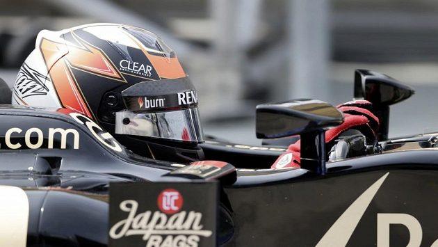 Fin Kimi Räikkönen při tréninku na Velkou cenu Malajsie.