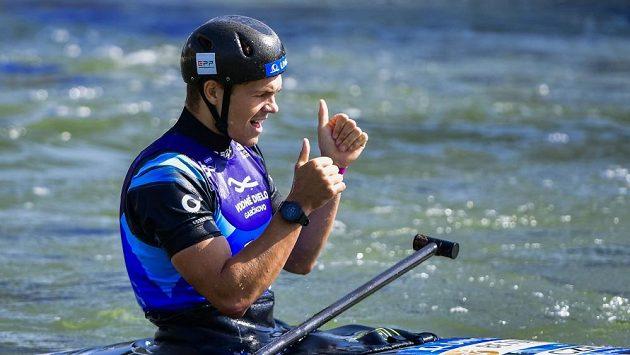 Kanoista Václav Chaloupka, mistr světa ve vodním slalomu z Bratislavy.