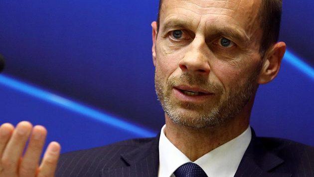 Prezident UEFA Aleksander Čeferin.