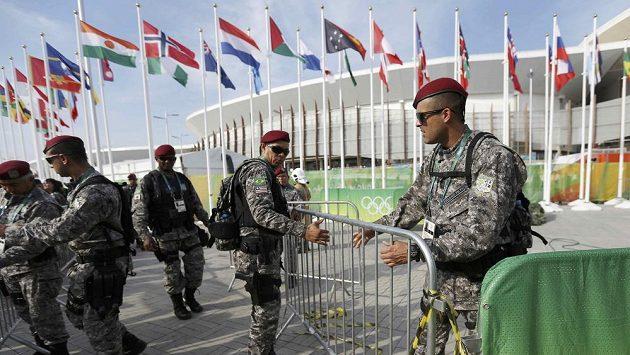 Olympijský park v Riu krátce poté, co se zřítila zavěšená kamera.
