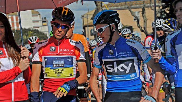 Alberto Contador a Christopher Froome (vpravo), největší favorité jubilejní Tour de France.