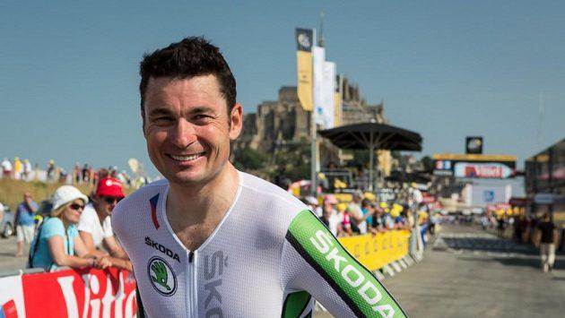 Jiří Ježek na archivním snímku po časovce Tour de France.