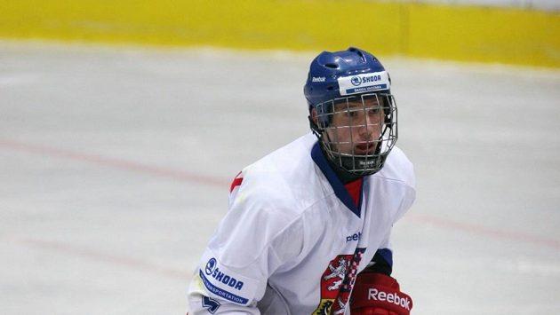 Jan Košťálek v reprezentačním dresu.