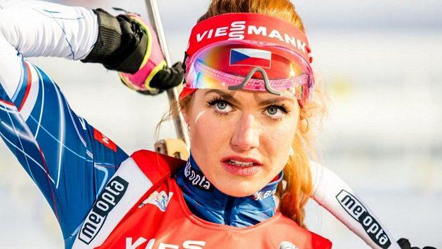 Gabriela Koukalová v dobách biatlonové slávy. I její triumfy jsou podle všeho za dnešním českým vzestupem v mládežnických kategoriích.