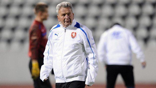 Josef Pešice pozoroval příštího soupeře Čechů v kvalifikaci.