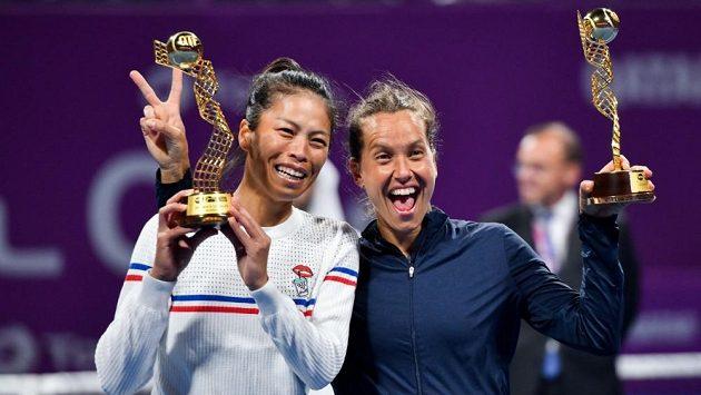 Barbora Strýcová a Sie Šu-wej.