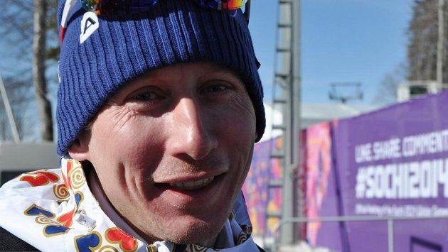 Běžec na lyžích Lukáš Bauer na olympiádě v Soči.