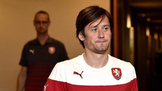 Kapitán české fotbalové reprezentaceTomáš Rosický.