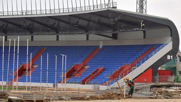 Městský stadión v Ostravě prochází rekonstrukcí.